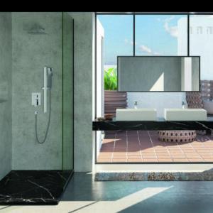 Vista General Plato de ducha Akasha Turín