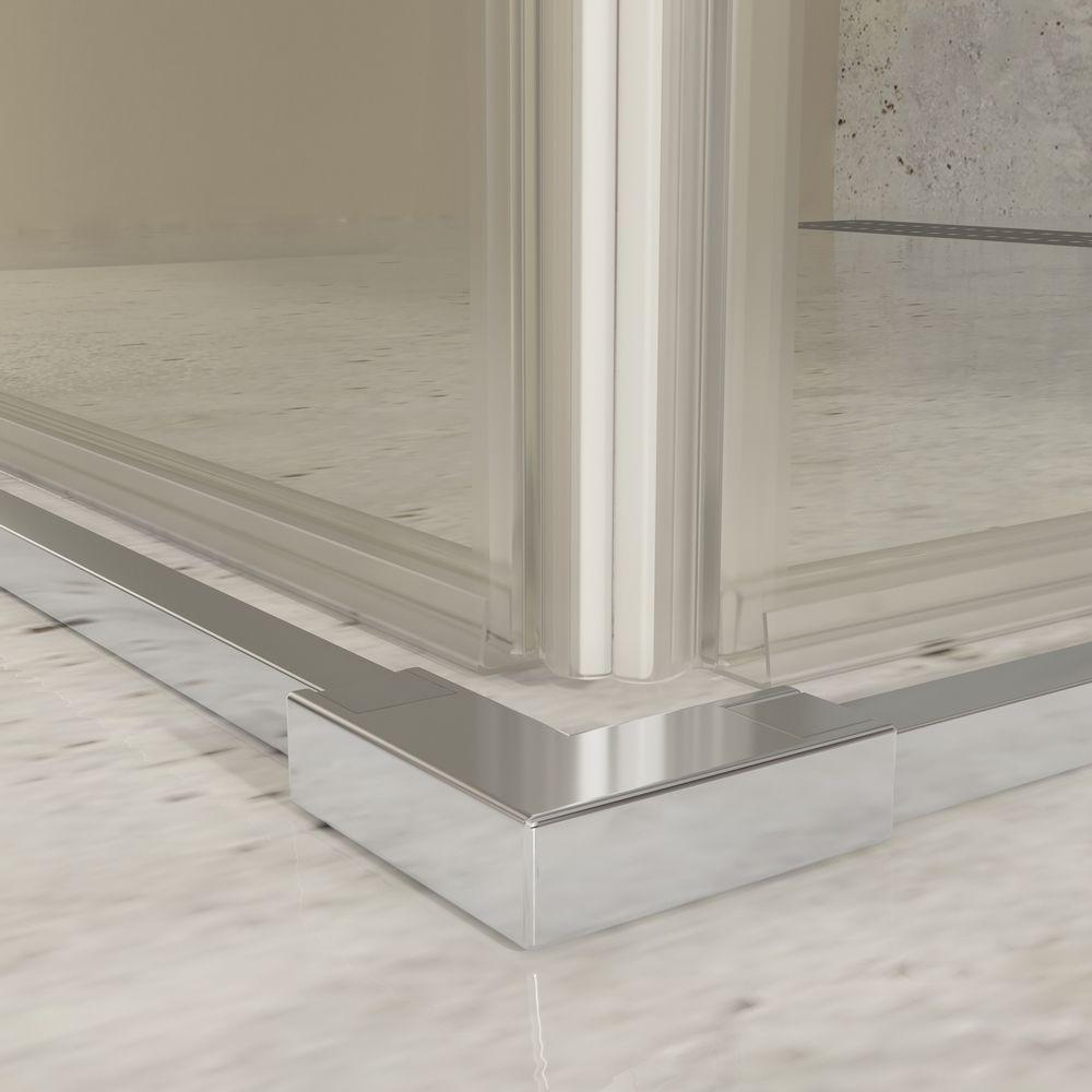Mampara de ducha rectangular 2 puertas correderas - sin perfilería inferior
