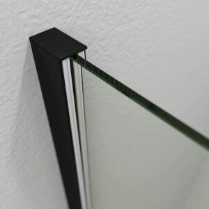 Mampara fijo de ducha - 8 mm perfilería negra