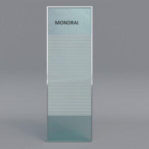 Mampara de ducha serigrafiado MONDRAI