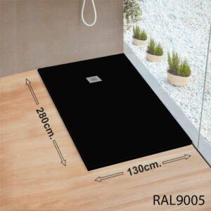 Plato-de-ducha-gigante-RAL9005